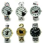 Ladies Novelty KITTY CAT ANIMAL Stretch Elastic Band Fashion Watch Versales VS1 image