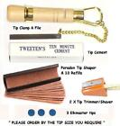 CUE TIP TOOL KIT PLUS. EVERYTHING REQUIRED FOR TIPPING YOUR CUE. UK SUPPLIER £24.98 GBP on eBay