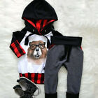 2Pcs Toddler Kids Baby Girls Flowers Hooded Top Pants Outfits Clothes Tracksuit