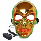 LED Purge Glowing Creepy Mask Halloween Party Cosplay Costume 3 Mode Light Up