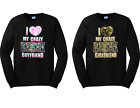 I Love My Crazy Redneck Boy And Girl Matching Couple Long Sleeve Tees New