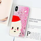 For iPhone X 6s 7 8 Plus Christmas Design Glitter Quicksand Clear TPU Case Cover