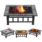 "26""/32""/37"" Outdoor Fire Pit Wood Burning Heater Backyard Patio Steel Fireplace"