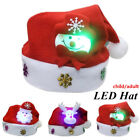 Lovely Adults Kids Christmas Hat Snowman LED Caps New Year Christmas Decoration
