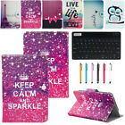 """7"""" Inch Tablet PC Bluetooth Keyboard + PU Leather Folding Flip Stand Case Cover"""
