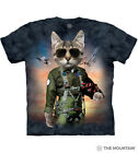 The Mountain 100 Cotton Kid's T-Shirt Youth Blue Tee Tom Cat Sizes S  M NWT