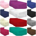 PERCALE EXTRA DEEP 100% COTTON BLENDPOLY FITTED VALANCE BED SHEETS IN ALL SIZES  image