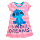 Disney Store Nightshirt Nightgown Girls Stitch Chip and Dale Lady Tramp Dory