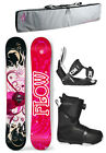 2019 FLOW TULA 140 Women's Snowboard+Flow Bindings+BOA Boots+BAG NEW 4 YR WRNTY