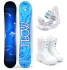 2019 FLOW Star 147cm Women's Snowboard+M3 Bindings+M3 Boots Package NEW