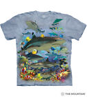 The Mountain Coral Reef Sharks Fish Ocean Aquatic Collage Men's Tee Shirt 105943
