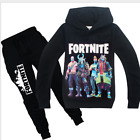 Внешний вид - Fashion Kids Boys Fortnite Long Sleeve Shirt Tops+Pants A Suits 6-14 Years