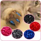 4 Size Soft Cat Nail Caps Claw 100pcs+5 Adhesive Glue+Applicator for CATS PAWS