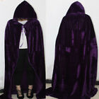 Unisex Witch Long Cloaks Capes Halloween Cosplay Costumes Hoody Vampire Robes