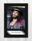 Russell Brand A4 reproduction signed photograph poster. Choice of frame.