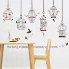 Hanging Bird Cage Decoration Decal Wall Sticker for Glass Window LivingRoom Home