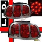 96 97 98 Ford Mustang V6 GT Coupe Convertible Red LED Tail Lights 1 Pair
