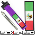 PURPLE MEXICO FLAG FRONT BUMPER REAR RACING STYLE TOW HOOK STRAP SCION on eBay