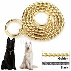 P-Choker  Pet Dog Training Collar Chrome Plated Metal Neck Chain Gold / Black