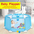 Baby Playpen Play Center Yard Safety Fence With 50Pcs Balls Home Indoor Outdoor