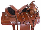 Western Saddle 16 15 17 18 Trail Riding Roping Ranch Work Leather Horse Tack Set