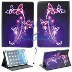"""Butterfly Stand PU Leather Cover Case For Samsung Apple Lenovo LG Tab 7"""" Inch US"""