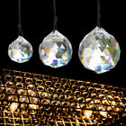 5 Size Feng Shui Hanging Crystal Ball Sphere Prism Faceted Sun Catcher Clear Lot
