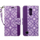 For LG Rebel 4 LTE (L212VL), PU Leather Wallet Case Magnetic Fold Stand Strap