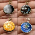Galaxy Astronomy Pendant Earth /sun/moon Solar System Necklace Jewelry