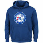 Philadelphia 76ers Pullover Primary Logo Royal Hoodie Men's L - 3XL NBA on eBay