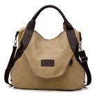 Large Pocket Casual Women Shoulder Cross body Handbags Canvas Leather Bags HOT