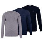 MEN'S CALVIN KLEIN V-NECK JUMPER/SWEATER, LONG SLEEVE, SIZE M, L, XL, XXL