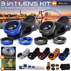 Clip on Cell Phone Camera Lens Super Wide Angle Lens Macro Lens and Fisheye Lens