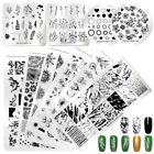 NICOLE DIARY Nail Stamping Plates Valentine's Day Lace Flower Image Templates