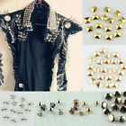 Внешний вид - 100pcs Punk Rock Pyramid Dome Star Rose Gold Silver Nailhead Spike Rivets Studs