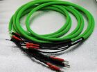 1Pair Biwire Speaker Cable Wire 6N Copper Silver