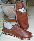 MOROCCAN LEATHER BABOUCHE Slippers BROWN  ALL SIZES