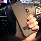 Luxury Ultra Thin Kickstand Carbon Fiber Case Cover For Apple iPhone 7 / 8 /Plus