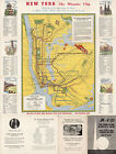 Rapid Transit Map of Greater New York Vintage Wall Art Poster Print Historical
