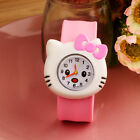 Cartoon Slap Snap On Silicone Digital Wrist Watch Boys Girls Children Kids Gift