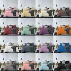 100% Microfiber Duvet Cover Set with Zipper and Ties Twin Queen King Size