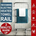 Electric Heated Towel 5 Rail Freestanding Dryer Rack Bathroom Portable Clothes