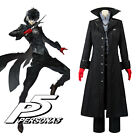 Persona 5 Joker Protagonist Cosplay Costume Coat Suit Jacket Outfit Top