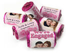 Personalised Mini Love Heart Sweets for Engaged favours,Spotty Pink with Image