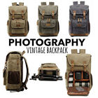 Внешний вид - Premium Vintage Photography Backpack Waterproof Photography Canvas Bag