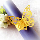 10/50Pcs Butterfly Napkin Ring Paper Holder Table Party Wedding Favors Decor