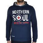 Lambretta Northern Soul Over The Head Casual Hooded Hoody Jumper Sweatshirt