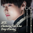BTS V Fake Love Charming Two Line Drop Earring Kpop Style Made In Korea 1Piece