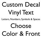 Custom Vinyl Lettering Decal Personalized Window Text Name Sign Sticker Car 4""