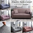 1-4 Seater Slipcover Sofa Couch Cover Stretch Chair Houndstooth Loveseat Protect